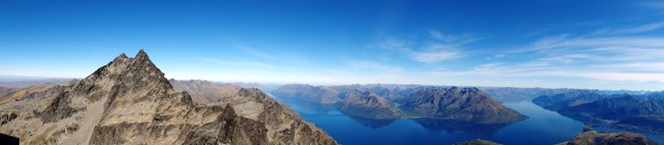 Mountain Top Panoramic. Remarkables Range Royalty Free Stock Photography