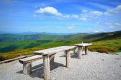 Mountain top recreation area Stock Image
