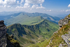 Mountain top ridge. In Rodnei Mountains, Romania Royalty Free Stock Photos
