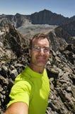 Mountain Top Selfie Stock Image