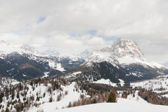 Mountain top ski lift scenery Alps Dolomiti Royalty Free Stock Photography
