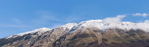 Mountain Top With Snow Abruzzi Italy Stock Photography