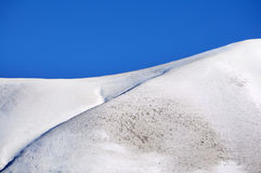 Mountain top with snow Stock Images