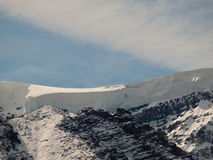 Mountain Top Snow Drift Stock Photo