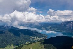 St. Wolfgang Lake. At mountain top of St. Wolfgang lake Royalty Free Stock Images