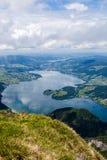 St. Wolfgang Lake. At mountain top of St. Wolfgang lake Royalty Free Stock Photography