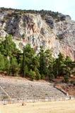 The mountain-top stadium of the Delphi sanctuary, Greece Stock Image