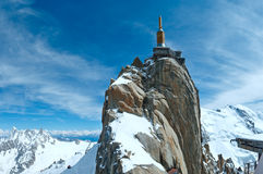 Mountain top station (Aiguille du Midi, France). Royalty Free Stock Image
