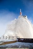 The mountain top station of Aiguille du Midi near Stock Photo