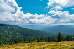 Mountain top on a summer day Stock Photo