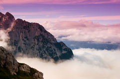 Mountain top at sunset Royalty Free Stock Photo