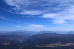 Mountain Top Under White and Blue Sky Royalty Free Stock Images