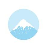 Mountain top, vector logo Stock Images