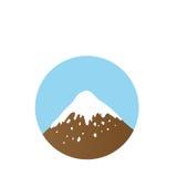 Mountain top, vector logo Royalty Free Stock Photography
