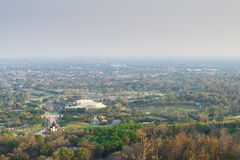 Mountain top view of Chiangmai in Thailand Royalty Free Stock Images