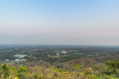 Mountain top view of Chiangmai in Thailand Stock Images
