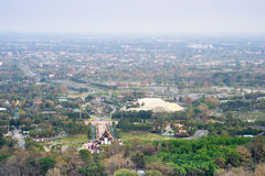 Mountain top view of Chiangmai in Thailand Royalty Free Stock Photo