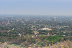 Mountain top view of Chiangmai in Thailand Royalty Free Stock Image