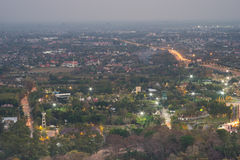 Mountain top view of Chiangmai in Thailand. Mountain top view of Chiangmai city in twilight period, Thailand Stock Photography