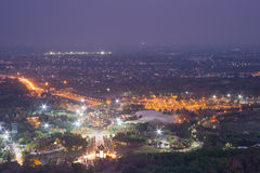 Mountain top view of Chiangmai in Thailand Stock Photography