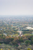 Mountain top view of Chiangmai in Thailand Stock Image