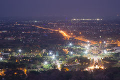 Mountain top view of Chiangmai in Thailand Royalty Free Stock Photos