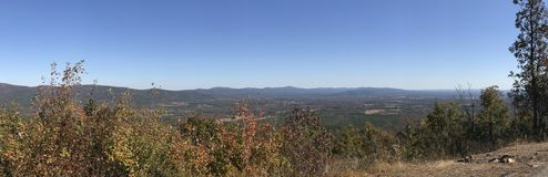 Mountain Top. View from Mount Magazine in Arkansas stock photography