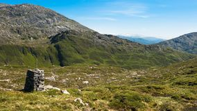 Mountain top. View from a mountain outside Bergen city in Norway Royalty Free Stock Photos