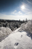 Mountain Top View. Winter Landscape Photo - Mountain Top View Royalty Free Stock Image