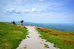 Mountain top viewpoint Stock Images