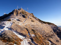 Mountain top weather station royalty free stock images