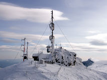 mountain top weather station Royalty Free Stock Image