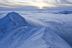 Mountain top in winter Stock Photo