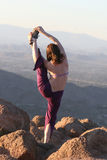 Mountain Top Yoga Stock Photo