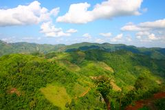 The mountain tops. View from the mountain tops stock photography