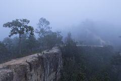 Beautiful sunrise above the mist at Yun Lai Viewpoint, Pai Thail Royalty Free Stock Photos