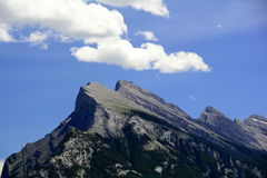 Mountain Tops of Banff National Park Stock Photography
