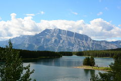 Mountain Tops of Banff National Park Stock Image