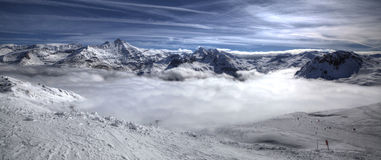 Mountain Tops. A bed of clouds in the mountain tops Royalty Free Stock Image