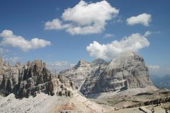 Mountain Tops in the Dolomites Stock Images