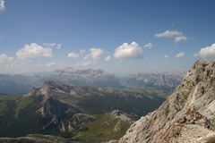 Mountain Tops in the Dolomites Stock Photos