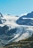Mountain tops and glaciers Stock Image