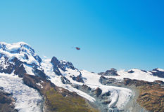 Mountain tops and glaciers Royalty Free Stock Images
