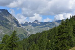 Mountain tops. Tops of Italian mountains in summer Royalty Free Stock Photo
