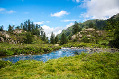 Mountain torrent Royalty Free Stock Images