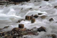 Mountain torrent. Long time exposure of a mountain torrent royalty free stock photography