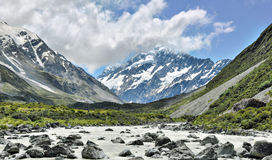 Mountain torrent near Mount Cook Royalty Free Stock Photography