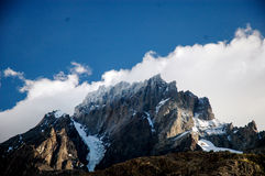 Mountain in Torres del Paine Royalty Free Stock Photo