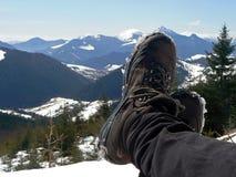 Mountain tourism royalty free stock photos