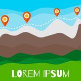 Mountain tourism vector illustration. stock illustration